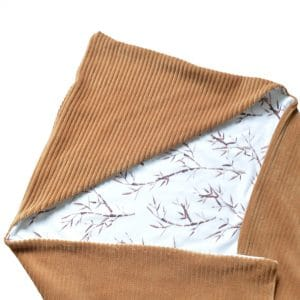 Omslagdoek bamboo brede rib bruin Mini Fem