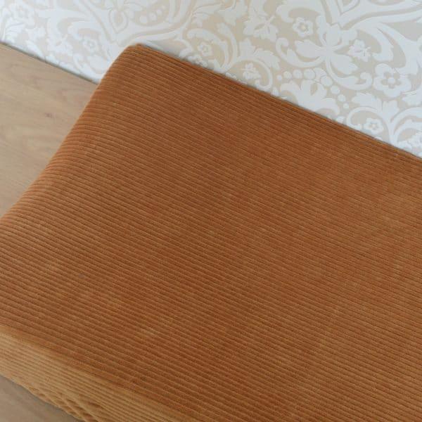 Aankleedkussenhoes brede ribstof bruin Mini Fem
