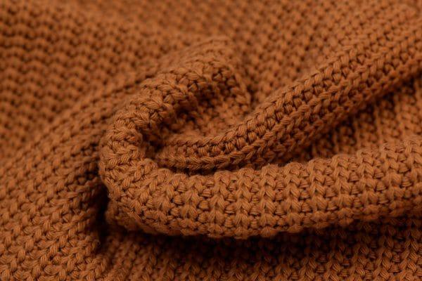 Big knit cognac Mini Fem