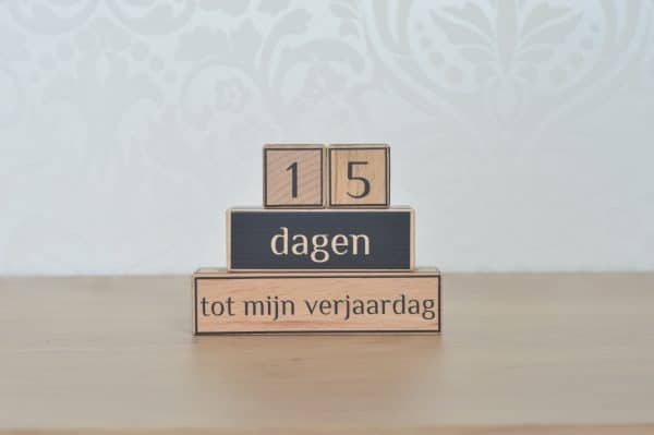 Aftelblokken verjaardag Mini Fem