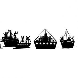 Statische raamsticker botenparade MiniFem